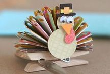 Little turkeys / Everyone will want a seat at the kids table with this cornucopia of crafts.