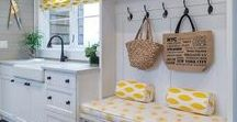 Laundry room / We hate laundry, but we can love the space!