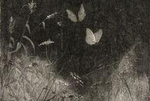 Engravings Etchings Linocuts Letterpress Woodcuts Intaglio Gyotaku Printmaking Stamps Stencils etc / by Cri