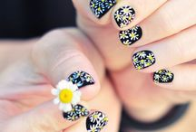 Nail Artistry / one day i aspire to remotely recreate these ideas. I will most likely end up with mixed-colored blobs on my nails. But a girl can dream.