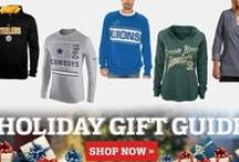 Holiday Gift Guide from NFL Shop / Having a hard time thinking of what to give as the perfect gift this year? Then turn to our NFL Holiday Gift Guide for the best gift ideas this holiday season! Find all the hottest NFL gifts for him, for her, for kids, and even for toddlers & infants right here at the official retail shop of the NFL: http://www.nflshop.com/pages/Holiday_Gift_Guide/source/ak1933nfl-pin-giftguide-12513