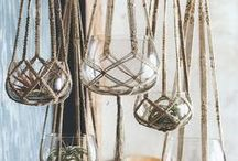 Hanged. Woven. Hangin' plants / by Cri