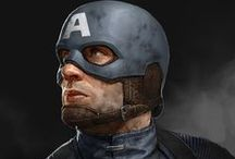 "Captain America Apparel, Merchandise and Art / Steve Rogers, a scrawny NY Army reject, is given a 2nd chance by being a lab rat for a top secret project called, Operation: Rebirth. The result... Steve gets the ""Super Soldier"" serum, a Nazi spy bursts in, gun-a-blazin', a scientist dies, the serum recipe is lost, and a tough boy scout named Captain America is born! http://www.superherostuff.com/characters/captainamerica/captain_america_merchandise.html / by SuperHeroStuff.com"
