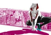 Spider Gwen Merchandise / Get all of your officially licenced Spider Gwen clothes: t shirts, hats, costumes, and sweatshirts right here! These items would make the perfect gift for him or gift for her!  / by SuperHeroStuff.com