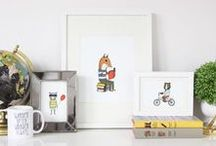 Hello Small World Art Prints / Hello Small World illustrated prints to add a little cheer to your walls!