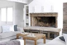 fireplace mantels. /