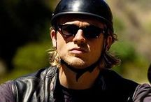 Charlie Hunnam as Jax Teller in Sons of Anarchy. / by Alesia