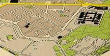 Mapas de Barrios / Mapas de barrios típicos y emblemáticos. Inspirados en planos urbanos británicos de finales del siglo XIX.