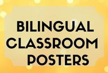 Bilingual Classroom Posters / Anchor charts and posters ideas for bilingual, dual language, Spanish immersion classrooms.