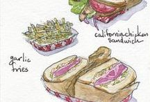 Filling Content / Food Illustrations by Liz Conley