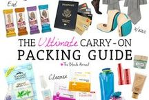 Travel Necessities / I never pack more than a carry-on for any trip under two weeks. These are some of my must-haves when it comes to packing light for long and short trips.
