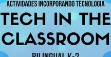 Actividades tecnología/ Tech in the clasroom / Bilingual (English/Spanish) activities that incorporate technology. QR codes, AR, coding, and much more.