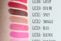 BEAUTY: Makeup Swatches / Makeup Swatches