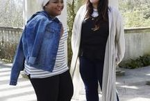 Winter To Spring Layering / Master trans-seasonal dressing like a pro with a few simple layering tricks. Plus size Fashion Stylist Bella and Modesty Fashion Blogger Sahar show us how it's done.