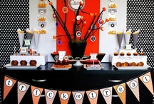 Modern Halloween Party Inspiration / Black, Orange, Lime with hints of purple - this modern halloween board helps inspire for the spookiest of parties.