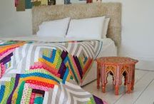 Log Cabin Quilts / I ADORE the log cabin patchwork block. So many possibilities! Lots of ways to use the block in quilts.