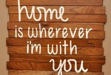 HOME IS WHEREVER I'M WITH YOU / IDEAS FOR BUILDING A HOUSE AND FURNISHINGS TO MAKE IT HOME. / by that BAMA girl•.¸¸.•♥