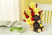 Fruit Babies / It doesn't matter if It's a Boy or It's a Girl, our fruit arrangements with chocolate will delight any new mom or mother-to-be! For the baby shower, choose one of our fruit arrangements for a sweet table centerpiece, or give the guests a tasty takeaway with one of our Fruit Favors®.  Then, welcome Mom, Dad and baby home from the hospital with a fruit bouquet in one of our custom keepsake containers for the nursery. / by Edible Arrangements
