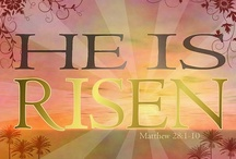 """HE IS RISEN! / Luke 24:1-6 On the 1st day of the week, early in the morn, the women took spices they'd prepared & went to the tomb.They found the stone rolled away from the tomb, but when they entered, they did not find the body of the Lord Jesus.While they were wondering about this, 2 men in clothes that gleamed like lightning stood beside them.In their fright the women bowed with faces to the ground, but the men said to them, """"Why do you look for the living among the dead? He is not here; He has risen! / by that BAMA girl•.¸¸.•♥"""