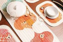 Table Runners / Quilted table runners, toppers and placemats to adorn every table.