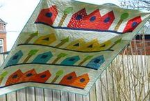 Houses Quilts / Quilts inspired by houses! Traditional, modern, large and small!