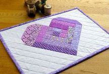 Mini Quilts / Ways to beautify walls. Mini quilts are pieces of art!