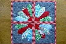 Dresden / Many ways to create the dresden patchwork block. Hand or machine sewn examples. Pieced and appliqued. Great for quilts, cushions, pillows and smaller projects.