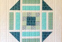 Giant Block Quilts / Quilt blocks go large! Quilts that have been made from an enlarged block/s.
