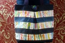 Selvedges / How to use the bit you throw away! Clever projects that are made from fabric selvedges.