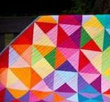 QST Quilts / This board is all about Quarter Square Triangle quilt blocks.