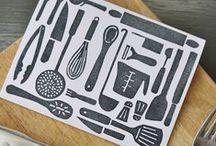 Print-Making / letterpress, screen printing, stamping, & block-printing