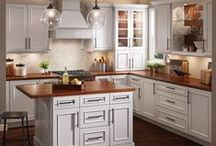 Kitchens: Light & Timeless / Light & Timeless design offers comfortable, uncluttered simplicity. The cabinetry promotes a clean and airy appearance that never goes out of style. A neutral backdrop is the perfect setting for displaying a few treasured accessories. / by KraftMaid Cabinetry