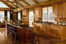 Kitchens: Natural & Warm / The down-to-earth Natural & Warm style features welcoming spaces with rich woods, rustic finishes and plenty of shelving to display family heirlooms and personal treasures. / by KraftMaid Cabinetry