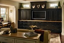 The KraftMaid Living Room / Family room, living room, great room -- whatever you call it, it should be inviting! Set the tone with KraftMaid cabinetry.  / by KraftMaid Cabinetry