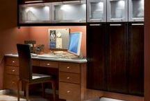 The KraftMaid Office / Getting work done is a lot easier when you've got an organized, inspiring office.  / by KraftMaid Cabinetry