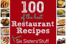 Restaurant-copycat recipes / Favorite foods from favorite Restaurants-almost!