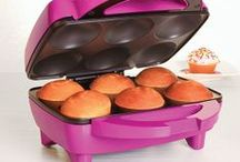 """SPECIALTY MAKERS--Holstein, Nostalgia, Smart Planet, Babycakes, etc. / My favorite """"Makers"""" and possible recipes to try in them!  Holstein, Nostalgia, BabyCakes, Smart Planet, Bella and others have great nonstick and make good baked goods and food."""