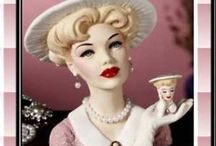 Lady Head Vases/Mademoiselles / Collectible Ladies for display and Tea tables!