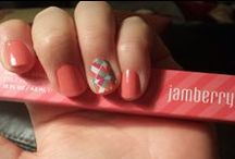 Jamberry / I'm so excited to share Jamberry Nails with my friends!  I LOVE that I can get an adorable manicure for literally a fraction of the cost of going to a salon!  Jamberry is super easy to apply, doesn't chip like polish and takes no dry-time!  I can change my mani as often as I like, it's soooo fun!!