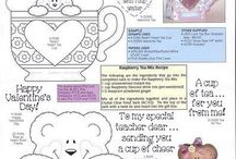 Darcie's Rubber Stamp Recipes / Flyers with additional recipe ingredients needed for the stamp.