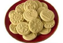 COOKIES--Spritz, Stamped, Embossed, Stenciled, Molded / Made using cookie stamps, rubber stamps, embossing tools, doilies, spritz gun, cookie molds...