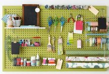 Home - Craft Room / Ideas for organizing and storing items in a craft room. / by Rebecca Greco