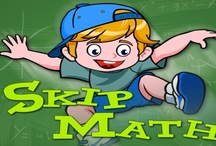 """Skip Math: Skip Counting Games / Skip Math is a """"Doodle Jump"""" style game in which a boy or girl character jumps from platform to platform trying not to fall. Unlike """"Doodle Jump,"""" however, children playing Skip Math must land on the platform that correlates to the correct number. For example, when counting by fours you must land on 4, then 8, then 12, etc. """"Skip counting"""" is simply counting by a number that is not 1. http://www.mathfilefoldergames.com/skip-math-skip-counting-games-app/"""