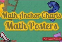 Math Posters & Math Anchor Charts / A Math Poster & Math Anchor Chart to put on your Math Vocabulary board for students to use as a reference.  Along with the math classroom posters there are also cards to use as bookmarks for a quick reference the cards are also GREAT to glue into the students Math Journals. Students really enjoy using and putting these in their math binders!  These printable math posters include a 24inch x 36inch (poster size) JPEG file, so you can get the actual poster printed.