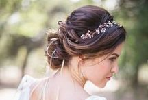 Bridal Hair / Hair styles to enhance your wedding day look.
