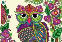 Free Adult Owl Coloring Pages / Free Adult owl Coloring pages from stress relief coloring app http://stressreliefcoloring.bluedreamapps.com/