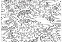 Deep Sea Coloring Pages / Stress Relief Adult Color Book uses the healing power of art in a research driven therapeutic science to help you get relief from stress, anxiety, depression, dementia, PTSD and other related conditions. Research shows that coloring has various therapeutic benefits.   Get galleries of beautiful owls, flowers, birds, ocean creatures, ancient Egypt culture, elephants, mandalas, geometric designs, and patterns, with each gallery having intricately detailed images to colour.