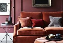 Gorgeous Living Room Interiors and Decor / Interesting and beautiful living rooms in all sorts of styles. Eclectic, bohemian, colorful, modern, mid-century, art deco, minimal, coastal, country, etc. Striking and atmospheric for different reasons.