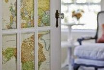 Maps and Globes / All sorts of maps and globes. Using maps and globes as decoration and decor. Map wallpaper, map cushions, map furniture, map lamps and more.