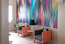 Wonderful Wallpaper + Wall Art Murals / Fab wallpaper of all sorts. What a difference it can make to a room!
